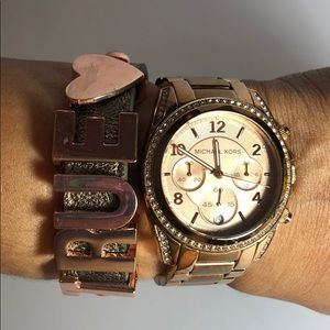 Michael Kors Rose Gold Jeweled Watch (AS IS)